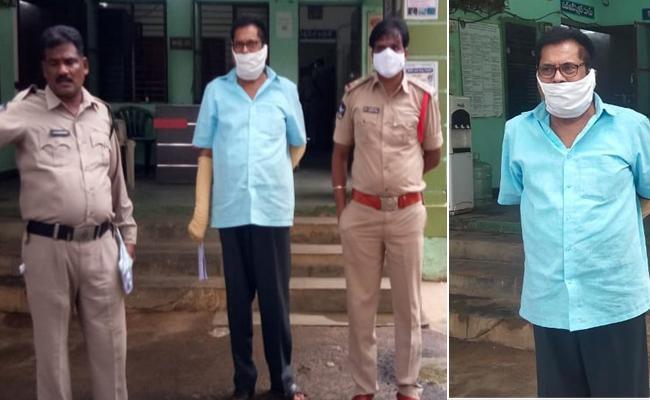 New Democracy Leader Chandranna Arrest In Guntur - Sakshi