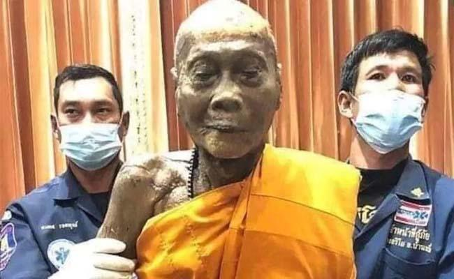 Fact Check: Dead Monk Smiling After Hundred Years - Sakshi