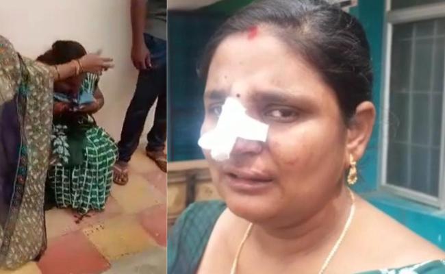 Bodhan senior Assistant Attack On Roja In Kamareddy - Sakshi