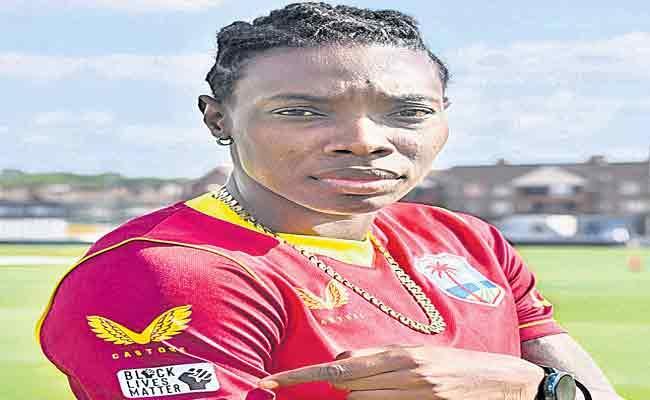 West Indies Women Crickers Wear Black Lives Matter Logo Shirts - Sakshi