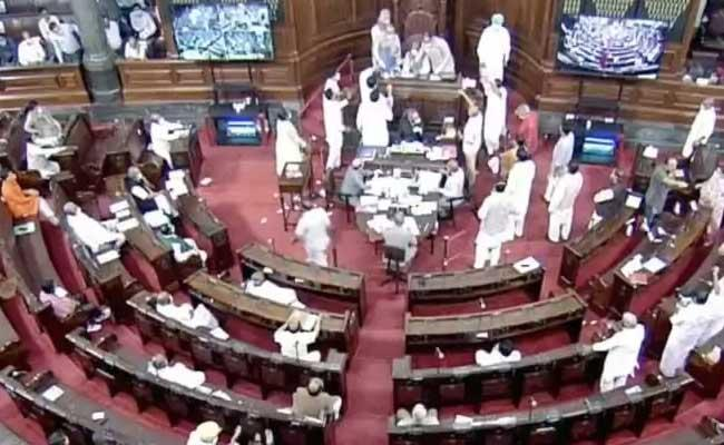 Video On Rajya Sabha Protest By Opposition Leaders - Sakshi