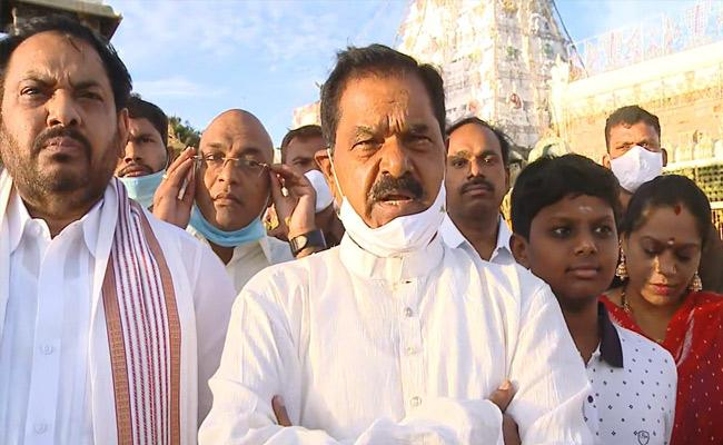 AP Deputy CM Narayana Swamy Visits Tirupati - Sakshi