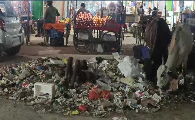 Man Sleeping In And Eating Garbage In Sangareddy - Sakshi