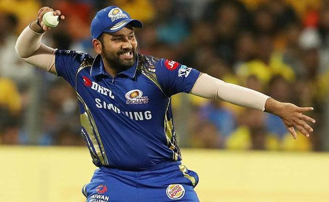 Rohit Sharma Huge Six In Practice As Ball Lands Moving Bus Rooftop - Sakshi